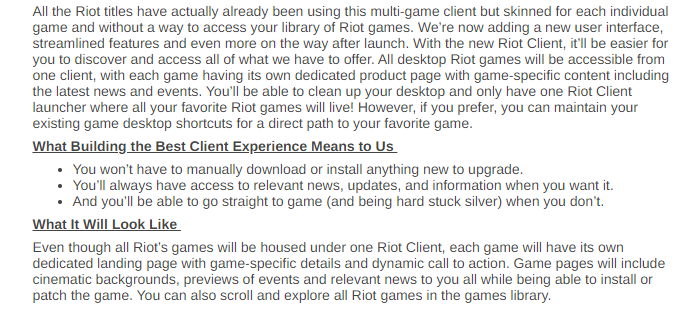 New Riot Client Coming Soon